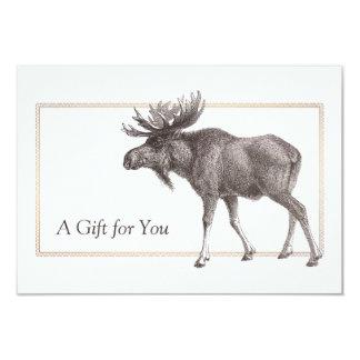 Rustic Vintage Moose Gift Certificate Card
