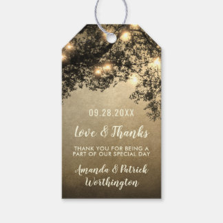 Rustic Vintage Tree Branch Wedding Thank You Tags