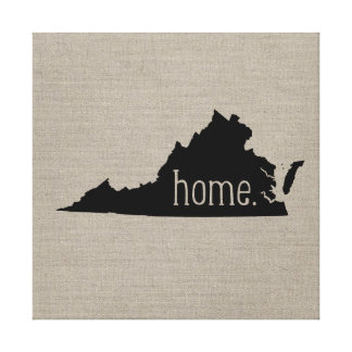 Rustic Virginia Home State Wrapped Canvas Art