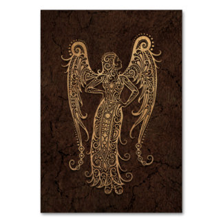 Rustic Virgo Zodiac Sign on Stone Effect Card