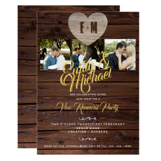 Rustic Vow Renewal Party with PHOTOS Invitations