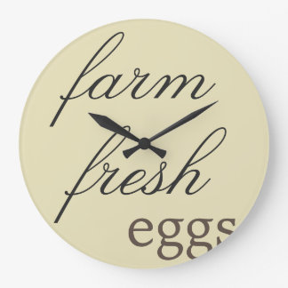Rustic Wall Clock - Farm Fresh Eggs