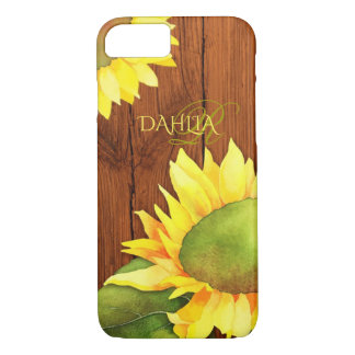 Rustic Watercolor Sunflowers iPhone 7 Case