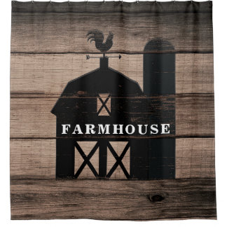 Rustic Weathered Wood Black Barn Country Farmhouse
