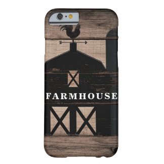 Rustic Weathered Wood Black Barn Country Farmhouse Barely There iPhone 6 Case
