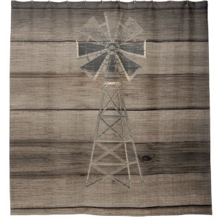 Rustic Weathered Wood Country Wind Mill