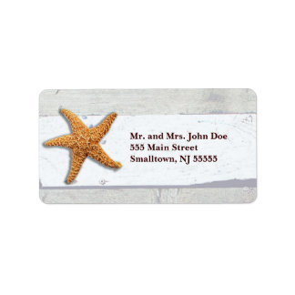 Rustic Wedding Address Labels Beachy Template