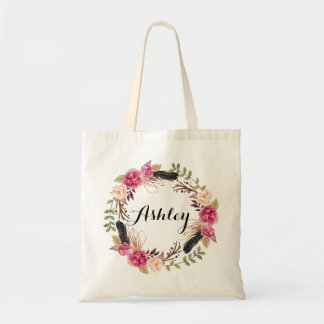 Rustic Wedding Bridesmaid Gift Boho Wedding Party Tote Bag