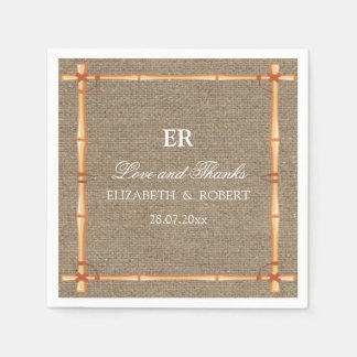 Rustic Wedding Country Backyard Burlap Napkin
