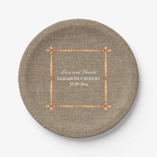 Rustic Wedding Country Backyard Burlap Paper Plate