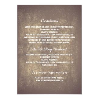 Rustic Wedding Details Card