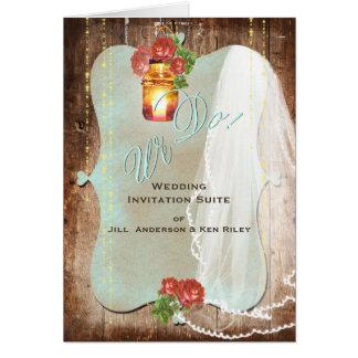 Rustic Wedding ~ Invitation Card
