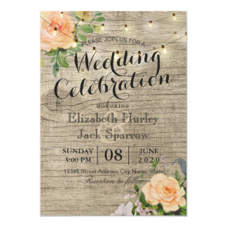 Bridal shower invitations announcements zazzle canada for Floral wedding invitations canada