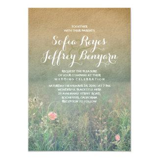 Rustic Wedding Invitation - The Summer Meadow
