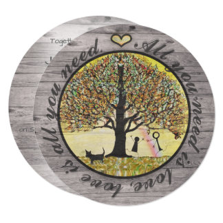 Rustic Wedding Love is All You Need Card