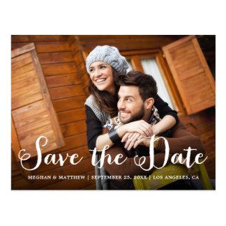 Rustic Wedding Photo Save the Date Postcard