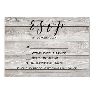 Rustic wedding RSVP card