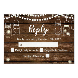 Rustic Wedding RSVP Cards - Country Rustic