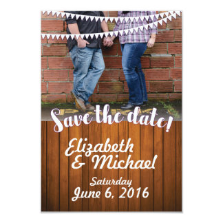 Rustic Wedding Save the Date Template Card