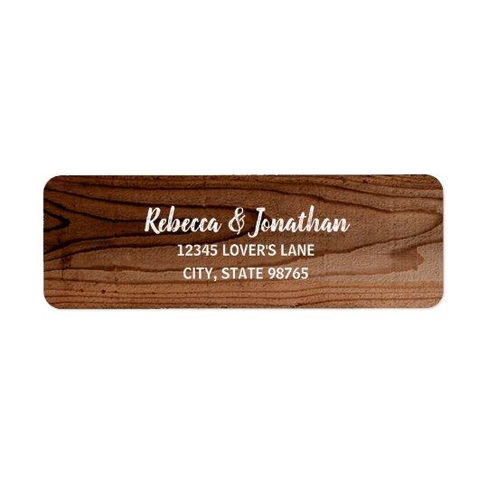Rustic Wedding Wood Return Address Labels