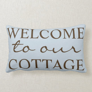 Rustic Welcome To Our Cottage - Family Name Lumbar Pillow