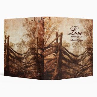 rustic western country farm wedding binder