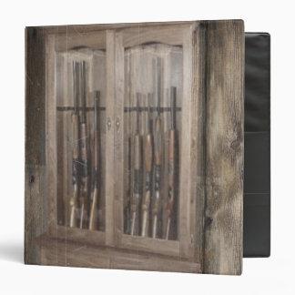 Rustic Western Country Firearm Gun Cabinet Rifles Binders