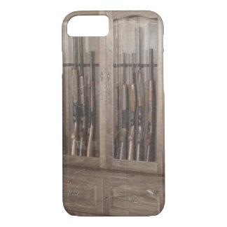 Rustic Western Country Firearm Gun Cabinet Rifles iPhone 7 Case