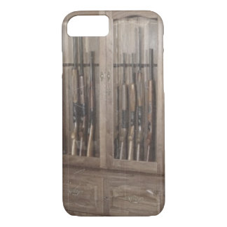 Rustic Western Country Firearm Gun Cabinet Rifles iPhone 8/7 Case