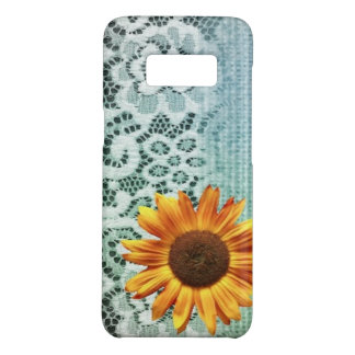 rustic western country lace blue burlap sunflower Case-Mate samsung galaxy s8 case