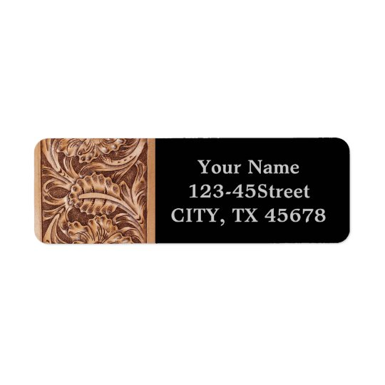 Rustic western country pattern tooled leather