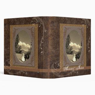 rustic western country steampunk wedding vinyl binders
