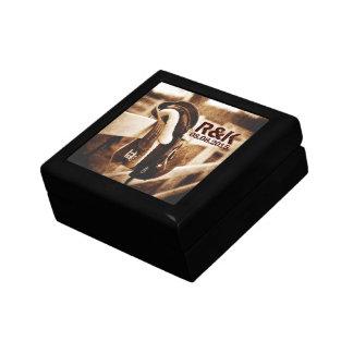 Rustic western cowboy horse saddle wedding gift box