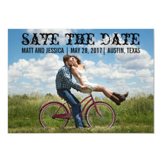 Rustic & Western Custom Photo Save the Date Card