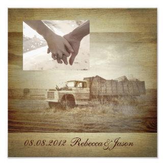 rustic western farm truck country anniversary photo print