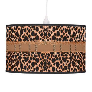 Rustic Western Leopard Animal Print Hanging Lamp