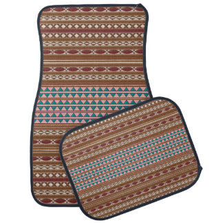 Rustic Western Pattern Car Mats Set of 4 Car Liners
