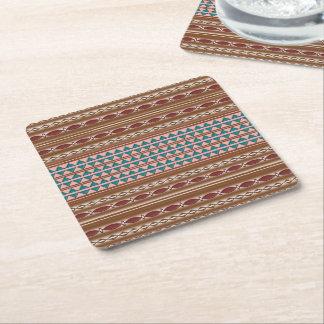 Rustic Western Pattern Pulp Board Coasters (6)