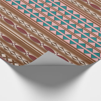 Rustic Western Pattern Wrapping Paper