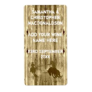 Rustic western wild west cowboy  wine