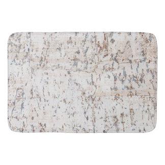 rustic white cork bath mat