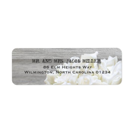 Rustic White Flowers Return Address Labels