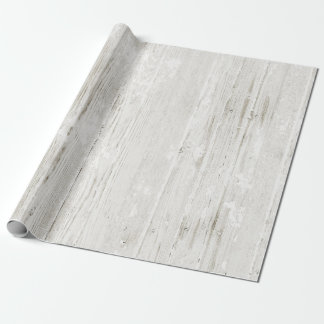 Rustic Whitewashed Wood Wrapping Paper
