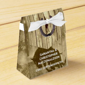 Rustic wild west cowboy country  wedding party favor box