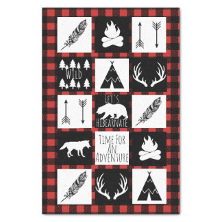 Rustic Wilderness & Animals Buffalo Check Plaid Tissue Paper