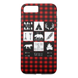 Rustic Wilderness & Animals Lumberjack Plaid iPhone 8 Plus/7 Plus Case