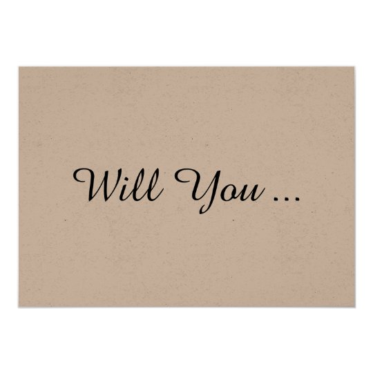 Rustic Will You Be My Bridesmaid Proposal Card