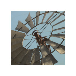 Rustic Windmill Wood Wall Art Wood Canvases