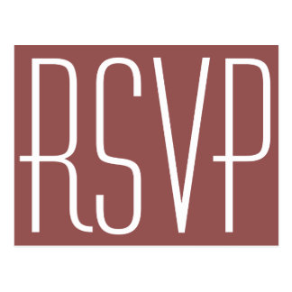Rustic Wine and White RSVP Postcard