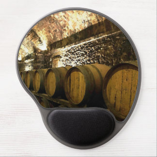 Rustic Wine Cellar in Brown Tones Gel Mouse Pad